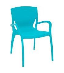 cadeira plástica e fibra de vidro clarice summa tramontina 92040070 azul