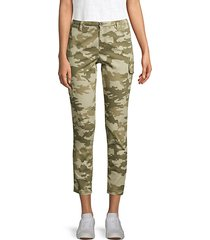 camo cropped cargo pants