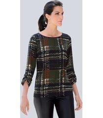 blouse alba moda bruin::groen