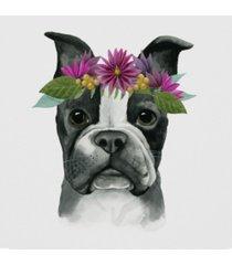 """grace popp flower crown pup ii canvas art - 27"""" x 33"""""""