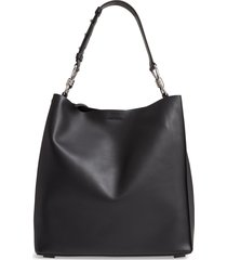 allsaints captain leather tote -