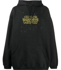 vetements x star wars logo hoodie