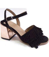 sandalia negra abryl calzados moulin