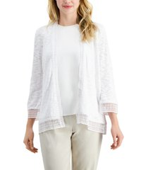 jm collection crochet-trim cardigan, created for macy's