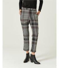 pantalón gris portsaid high waist cigarette gales