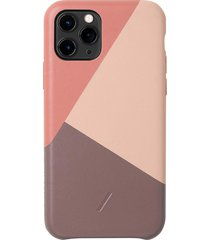 clic marquetry iphone 11 pro case - rose