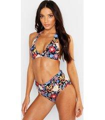 mix & match globetrotter fuller bust bikini top, black