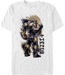 marvel men's avengers endgame painted thanos back turned short sleeve t-shirt