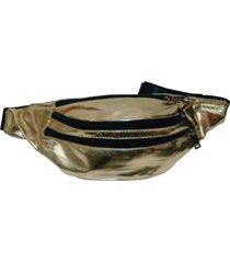 pochete real arte 3 bolsos dourado - kanui