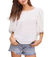 women's astr the label maris top, size large - white