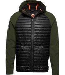 mountaineer softshell hybrid doorgestikte jas groen superdry