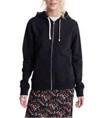 superdry organic cotton standard label zip sweatshirt