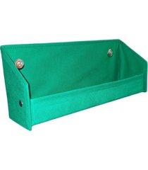 revisteiro prateleira para livros organibox verde bandeira