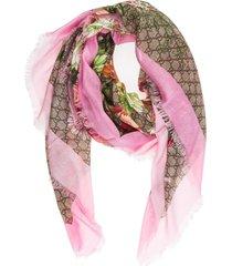 gucci spring bouquet shawl