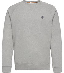 e-r basic regular crew sweat-shirt tröja grå timberland