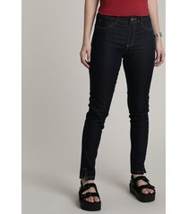 calça jeans feminina sawary cigarrete push up azul escuro