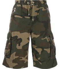 balmain camouflage bermuda shorts - green
