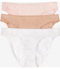 on gossamer women's cotton hip bikini panty, pack of 3