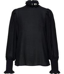 florenza blouse blouse lange mouwen zwart second female