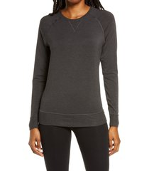 women's tommy john lounge crewneck sweatshirt, size xx-large - grey