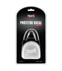 protetor bucal com estojo trinys transparente artes marciais