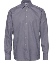 navy micro weave twill shirt skjorta casual blå eton