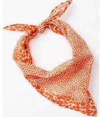 loft animal print triangle bandana