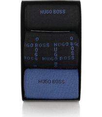 hugo boss black s 3p design box triple pack dark blue socks 50319264