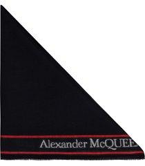 alexander mcqueen wool and silk blend scarf