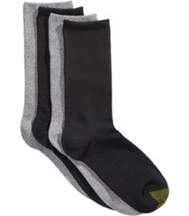 gold toe women's 4-pk. ultra-soft flat-knit crew socks