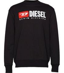 s-crew-division sweat-shirt trui met lange mouwen zwart diesel men
