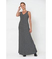 vestido largo geometrico