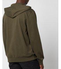emporio armani men's iconic terry hooded sweatshirt - green - m