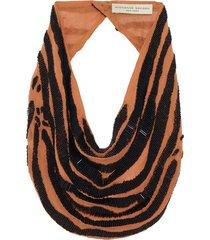 zebra scarf necklace