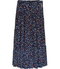chloé long floral viscose skirt
