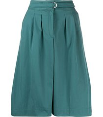 a.p.c. belted a-line skirt - blue
