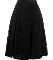 nº21 a-line mesh skirt - black