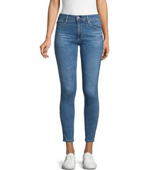ag jeans women's mid-rise skinny ankle jeans - dark blue - size 24 (0)