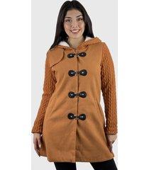 abrigo algodón y lana mujer hippie café enigmática boutioque