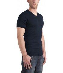 garage t-shirt v-neck semi bodyfit navy ( art 0302)