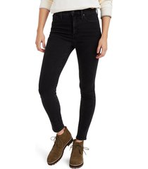 madewell 10-inch high waist ankle skinny jeans, size 37 in starkey at nordstrom