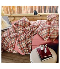 jogo de cama king 3 peças malha 100% alg. 120g/m² fio penteado - appel home - dublin