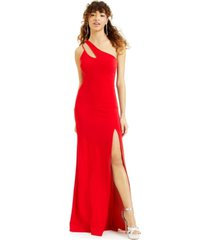 b darlin juniors' cutout one-shoulder gown