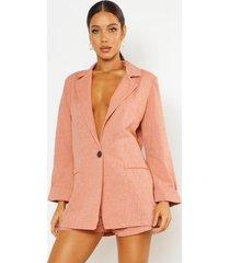 oversized linen look blazer, terracotta