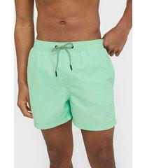 jack & jones jjiaruba jjswim shorts akm sts badkläder ljus grön