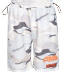 heron preston camo print track shorts