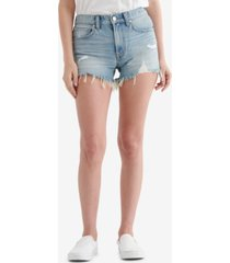 women's mid rise cut off shorts