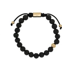 northskull lava stone beaded bracelet - black
