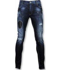 skinny jeans john jeans - spijkerbroek - paint drops dq -