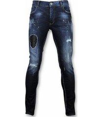 skinny jeans justing jeans spijkerbroek paint drops dq